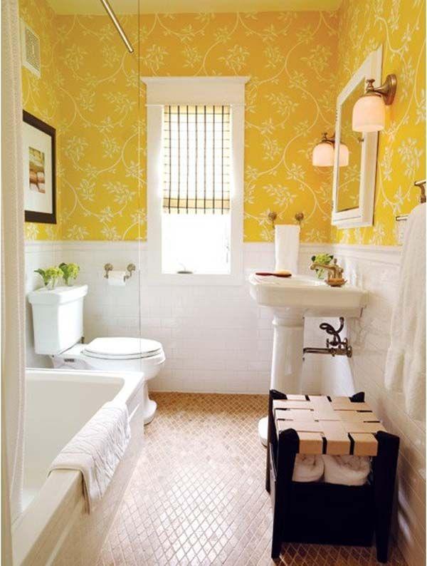 best 25 yellow bathrooms ideas on pinterest diy yellow bathrooms yellow bathroom interior. Black Bedroom Furniture Sets. Home Design Ideas