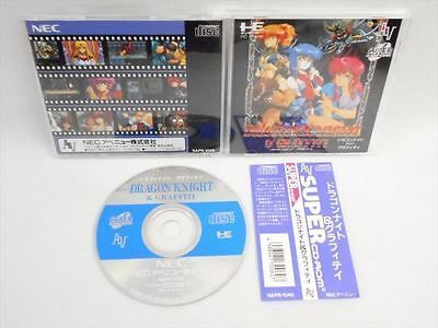 PC-Engine SCD Dragon Knight and Graffiti GOOD Condition SPINE * Japan Game pe
