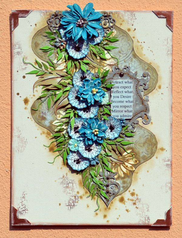 A mixed media canvas using the Tranquility Collection