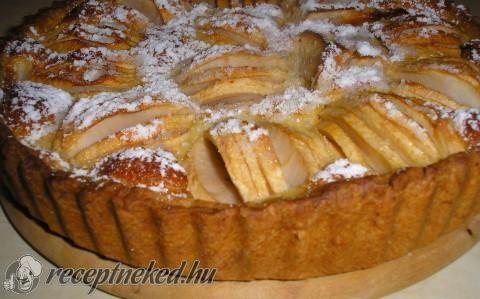 Elzászi almatorta recept fotóval