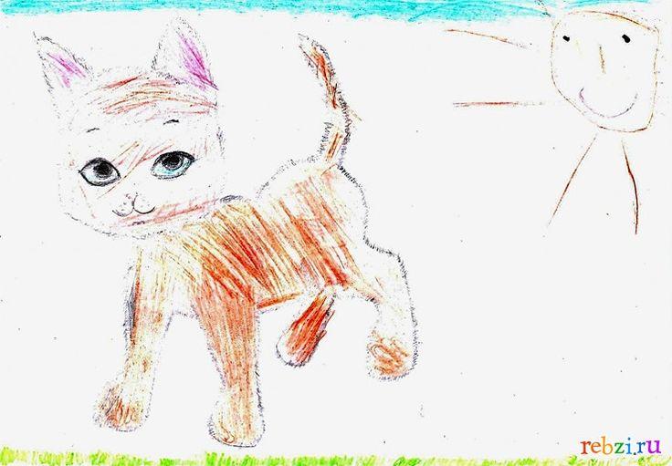 Детский рисунок: котенок2 (Даша Василисина, , 5 лет, Строитель Белгородская обл.)