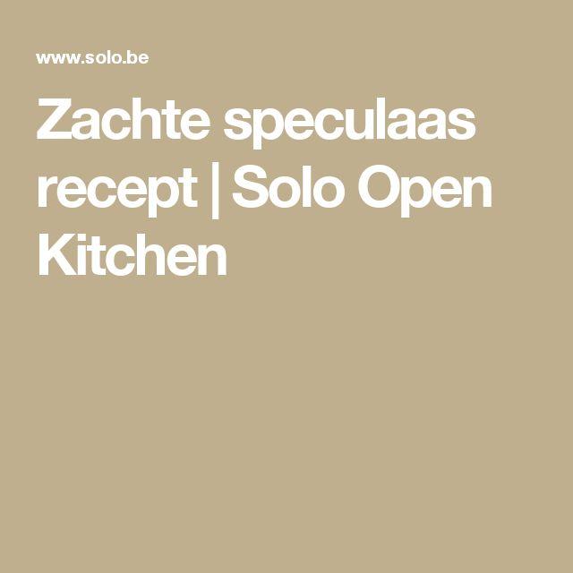 Zachte speculaas recept | Solo Open Kitchen