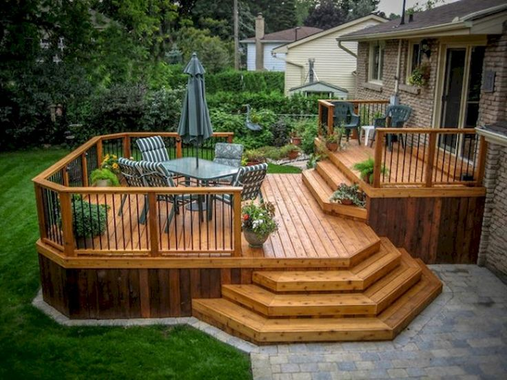 35 outstanding backyard patio deck design ideas - Ideas For Deck Design