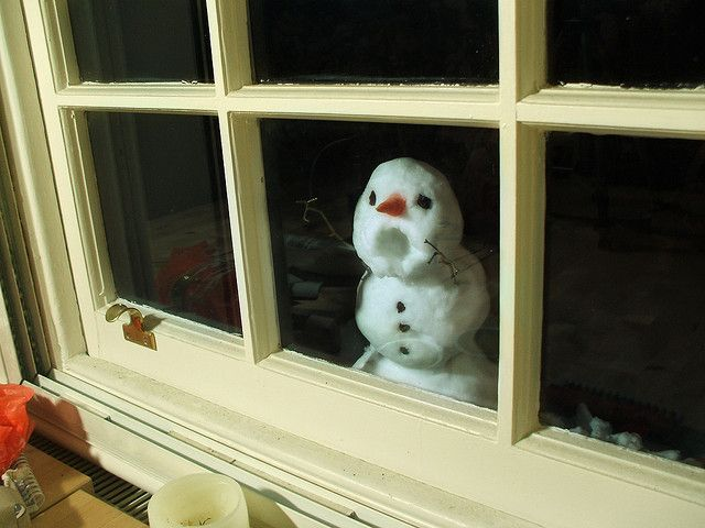 Snowman | Flickr – Silly Snowman! My kids used to do that on the glass all the time growing up!