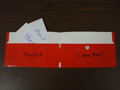 word wallets--This could be a useful tool for students.  You could make these for your students (or have the kids make them) at the beginning of the year.  They could be very helpful when practicing vocabulary words.  It would cost money to buy the folders for all the students.