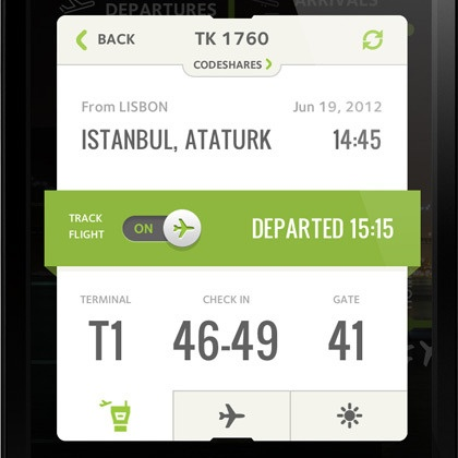 ANA Portuguese Airports - Flight Info design by João Oliveira Simões . - Best Mobile Designers In The World   Scoutzie