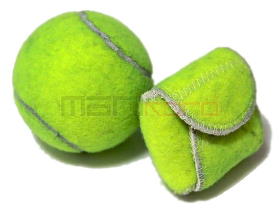 Handmade recycled tennis ball mini bag change holder - Can tennis balls be recycled ...