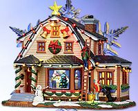 Decorating the House Lemax Christmas Village #lemax #Christmas #villages #collectables #decorating #tablepiece
