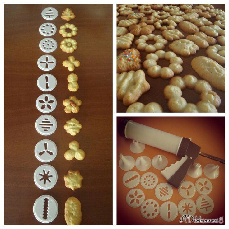 Semplici, belli e buoni, questa sparabiscotti è un invenzione niente male ;) http://addolciamoci.altervista.org/2015/06/biscotti-con-sparabiscotti/