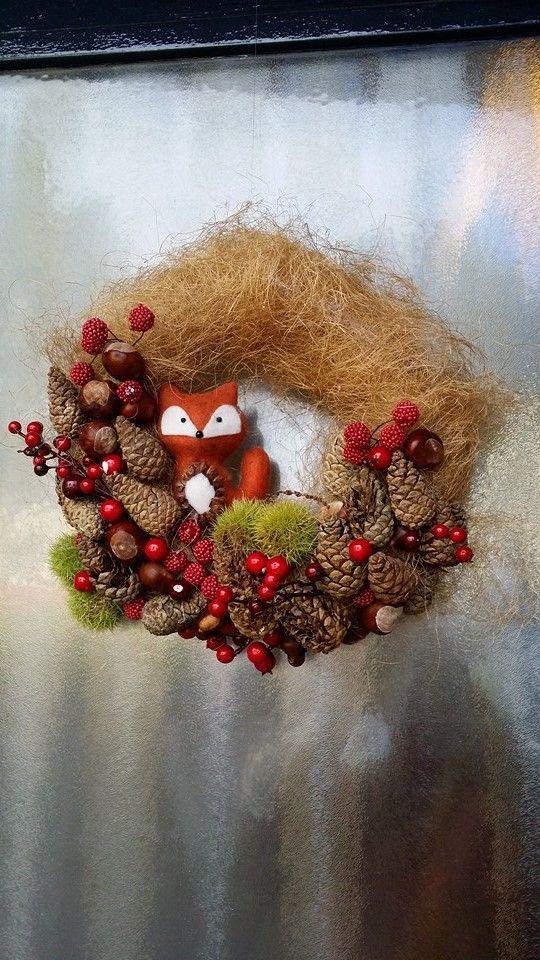 Sfeervolle najaarskrans met spullen vande Action. Dat vosje :P | by Dionne Hamstra  | DIY met de Action | Bespaarmama