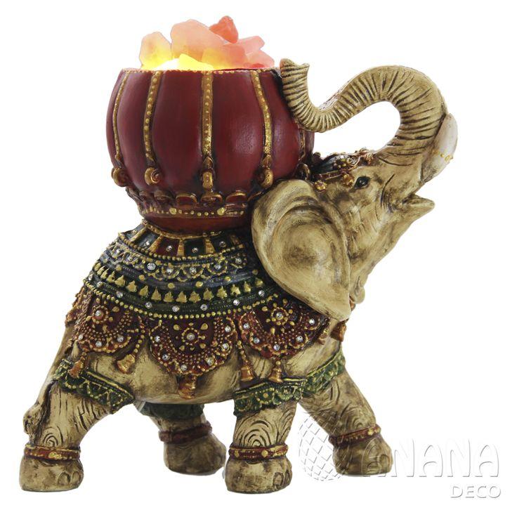 Lámpara de sal Elefante Hindú Mediano  Himalayan salt lamp Hindu Elephant Medium