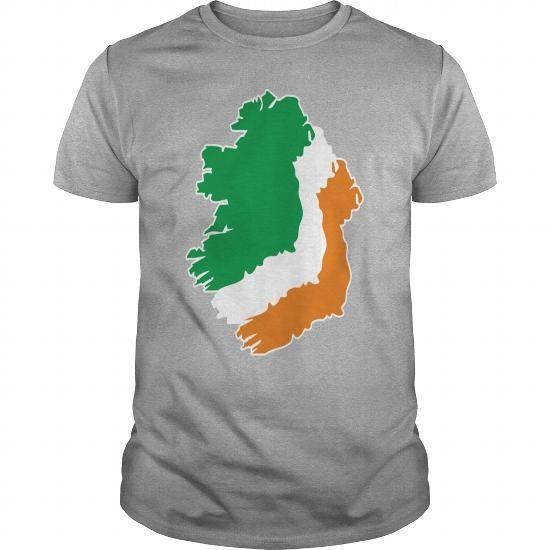 Digital - Ireland irish Shamrock Saint Sankt Patricks Day Map Irland Irisch Kleeblatt T-Shirts