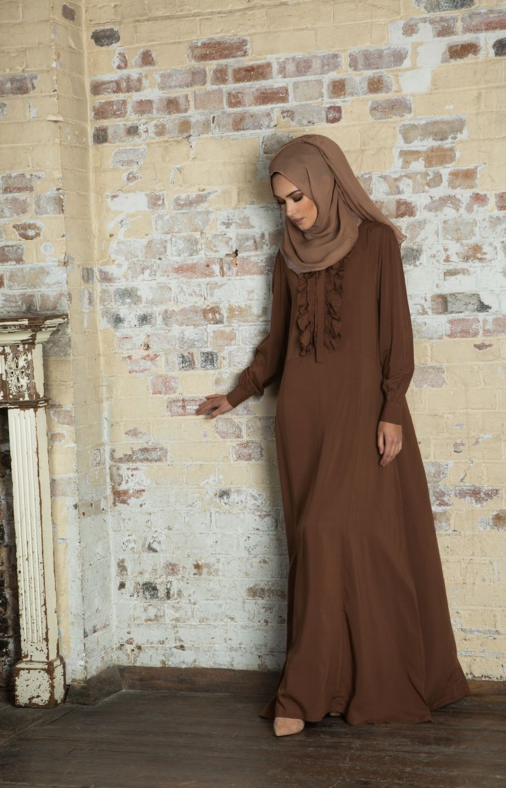 Ruffles Abaya, simple and not too much