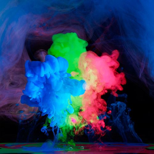 Dayglo Rorschach Tests by Mark Mawson: Photographers Mark, Bright Electric, Underwater Ink, Electreau Water, Electric Ink, Cloud Burst, Aqueous Electreau, Ink Cloud, Feathers Good