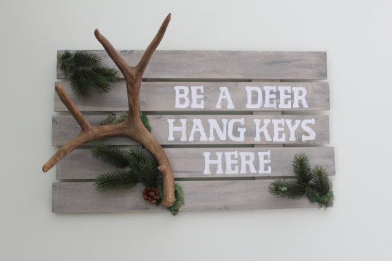 1000 images about my next house on pinterest photo wall displays oak cabinets and kitchen vinyl - Antler key rack ...