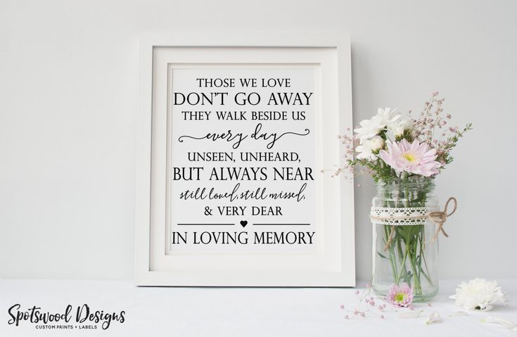 In Loving Memory Wedding Print. Wedding Remembrance. Memorial Table Sign. Wedding Reception Decorations. Wedding Sign. by SpotswoodDesigns on Etsy