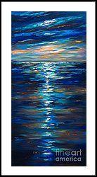 Dusk On The Ocean Framed Print by Linda Olsen