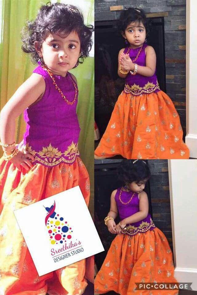 58 Best Pattu Pavadai Models Images On Pinterest Baby