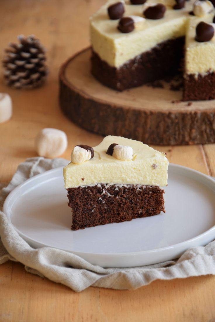 Gâteau nuage aux deux chocolats