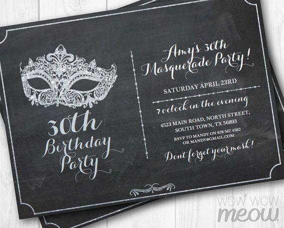 Best 25 50th birthday invitations ideas – Masquerade Birthday Invitations