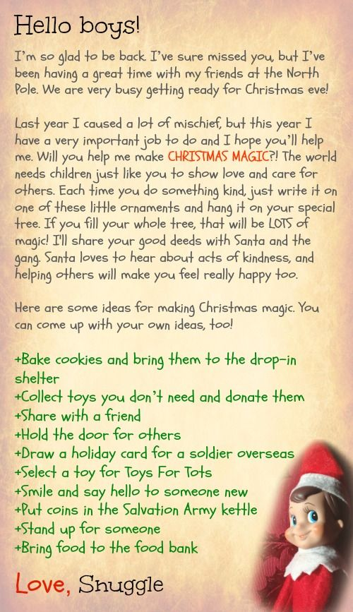 I like this a lot better than manipulating kids with presents. I would rather teach them what Christmas is about! What a fun idea!