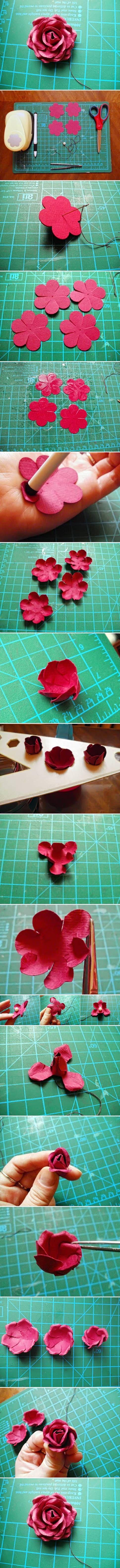 DIY Pink Paper Rose