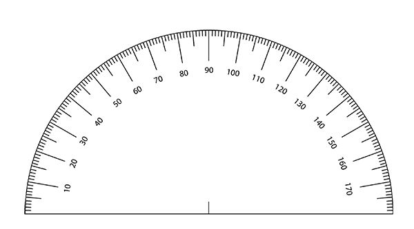 Free Printable Protractor Template Math Numbers