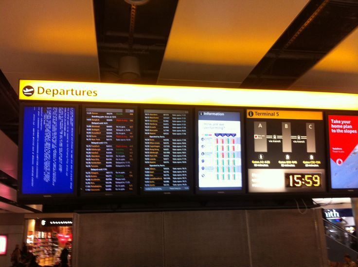Once in your Digital Signage life you need to visit the Mecca of screen fails, LHR Airport