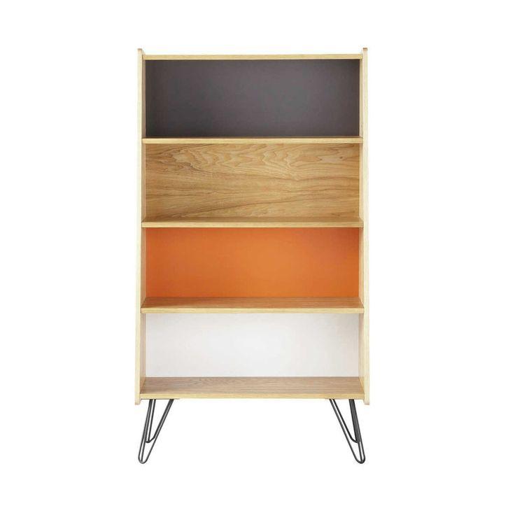 Bücherregal im Vintage-Stil aus Holz, B 72cm, bunt Twist | Maisons du Monde