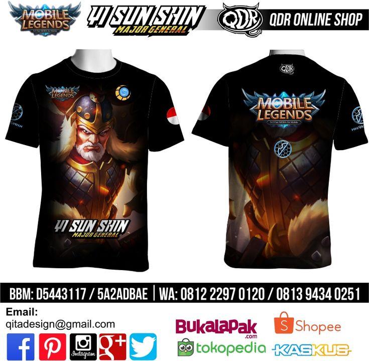T-shirt Mobile Legends Yi Sun Shin Skin Major General untuk pemesanan: BBM D5443117 / 5A2ADBAE (Qdr online shop) WA/LINE 081222970120 / 08129434025 http://www.qdronlineshop.com