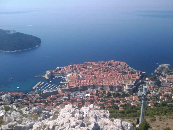 Dubrovnik old town, from Srd Hill
