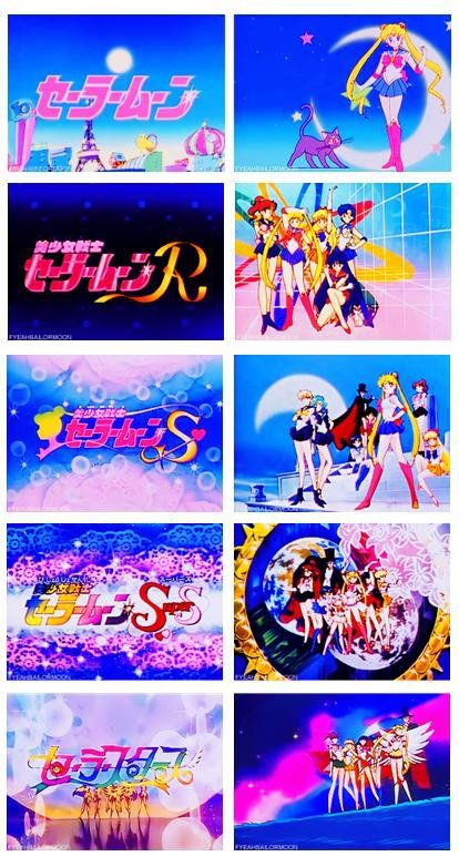 sailor moon season title screens