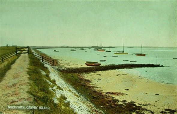 Postcard - Northwick Canvey Island AKA Hole Haven By Janet Penn