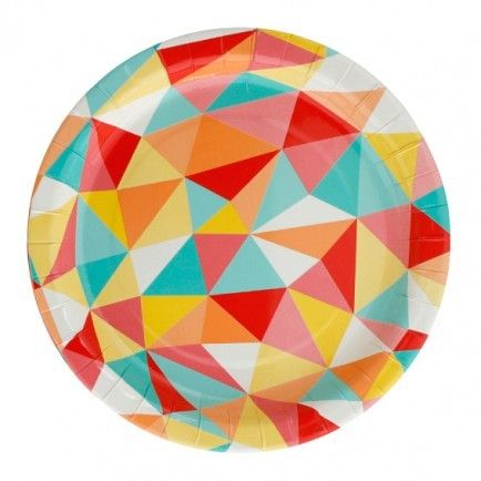 Rainbow Harlequin Paper Plates | Party Tableware | HIPP Party Supplies - The Party Cupboard Online Party Shop