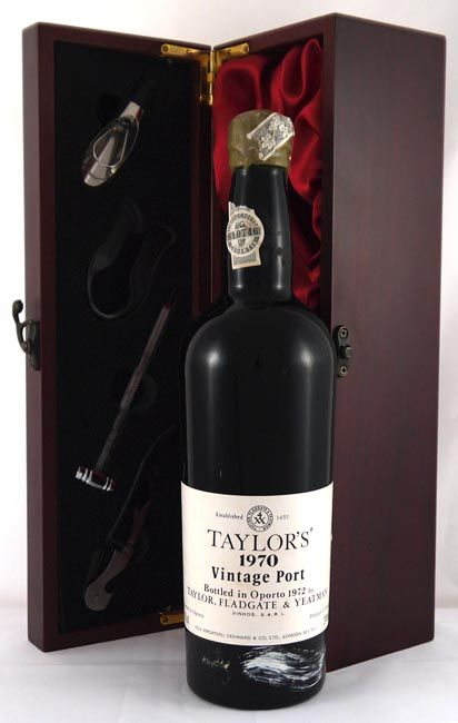 1970 Taylors #vintage #port.  Fabulous, a broodingly dense-colored, backward port that has all the signs of future greatness.  http://www.vintageportgifts.co.uk/acatalog/Taylor_Fladgate_Vintage_Port.html