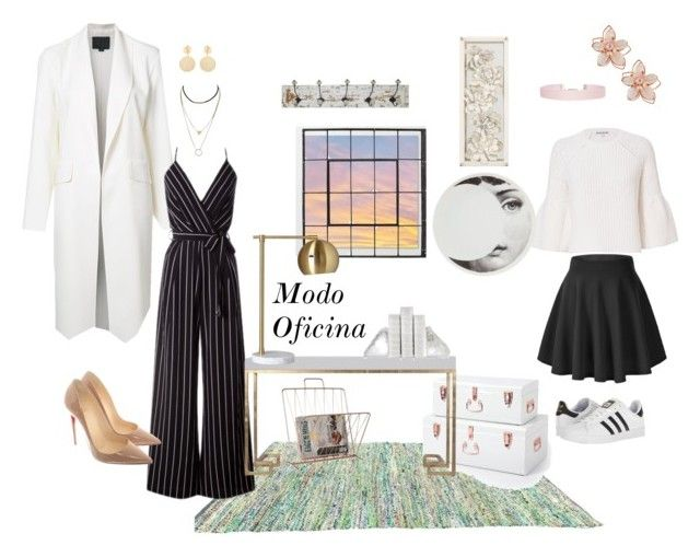 """Modo oficina"" by angelaabril on Polyvore featuring moda, Elizabeth and James, Alexander Wang, Christian Louboutin, NAKAMOL, Mounser, Humble Chic, Fornasetti, Crystal Art y Present Time"