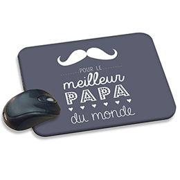 Message Papa : tapis de souris à personnaliser pour un joli cadeau fête des pères