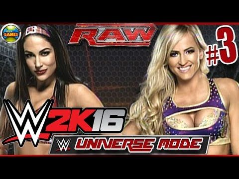 WWE 2K16: Brie Bella vs Summer Rae - RAW [Universe Mode] #3