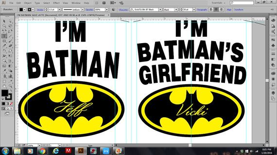 Ik ben Batman en ik ben van batmans vriendin mokken, zijn voor de superheld lovers caped soort.  De laatste foto toont hoe kunt u namen aan deze set van mokken alle u moet doen is in het vak van de notities naar verkoper de namen worden gezet en op die men hen om op te zetten. -------------------------------------------------------------------------------------------------------- Om de set  AS weergegeven  Ga naar de  gewichten  drop-down lijst en klik op 1 REG + 1 LG) 11 & 15 oz  DE SET…