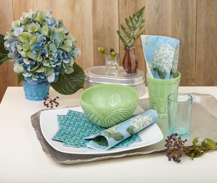 Paper + Design - blue floral premium paper napkins from Germany