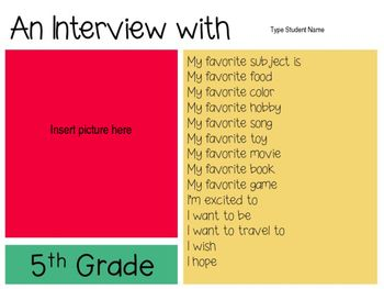 Back to School Interview Questions