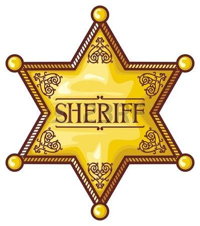 Vector insignia de sheriff s estrella del sheriff sheriff escudo Foto de archivo