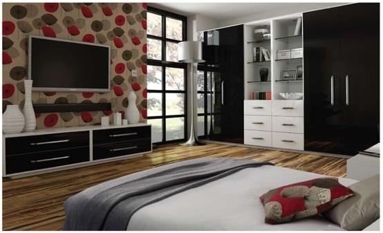 Zurfiz Ultragloss Black Bedroom Doors