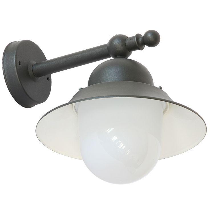 Kleine Schirm-Wandlampe für außen mit Makrolon-Glas von Auraluce