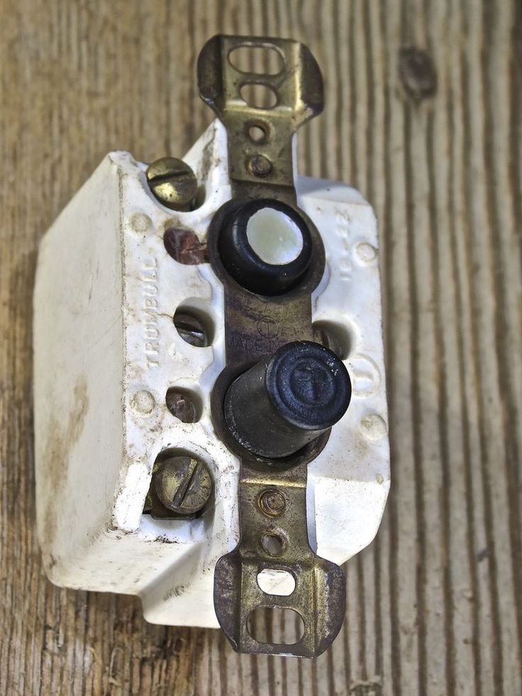 Push Button Light Switch Old Vintage Tests Ok Mother Of
