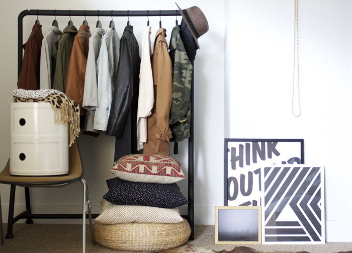 i know it looks cluttered, but i always love the look of a clothes rack in a room at home.: Closet Spaces, Graphics Art, Attic Bedrooms, Coats Racks, Clothing Racks, Amm Blog, Cars Girls, Art Deco, Graphics Patterns
