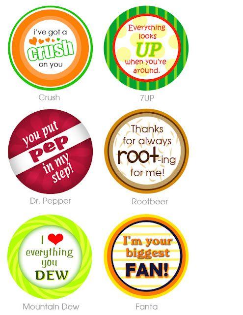 .: Pop Bottle, Valentines, Gifts Ideas, Darling Doodles, Sodas Bottle, Sodas Pop, Teacher, Love Life, Gifts Tags