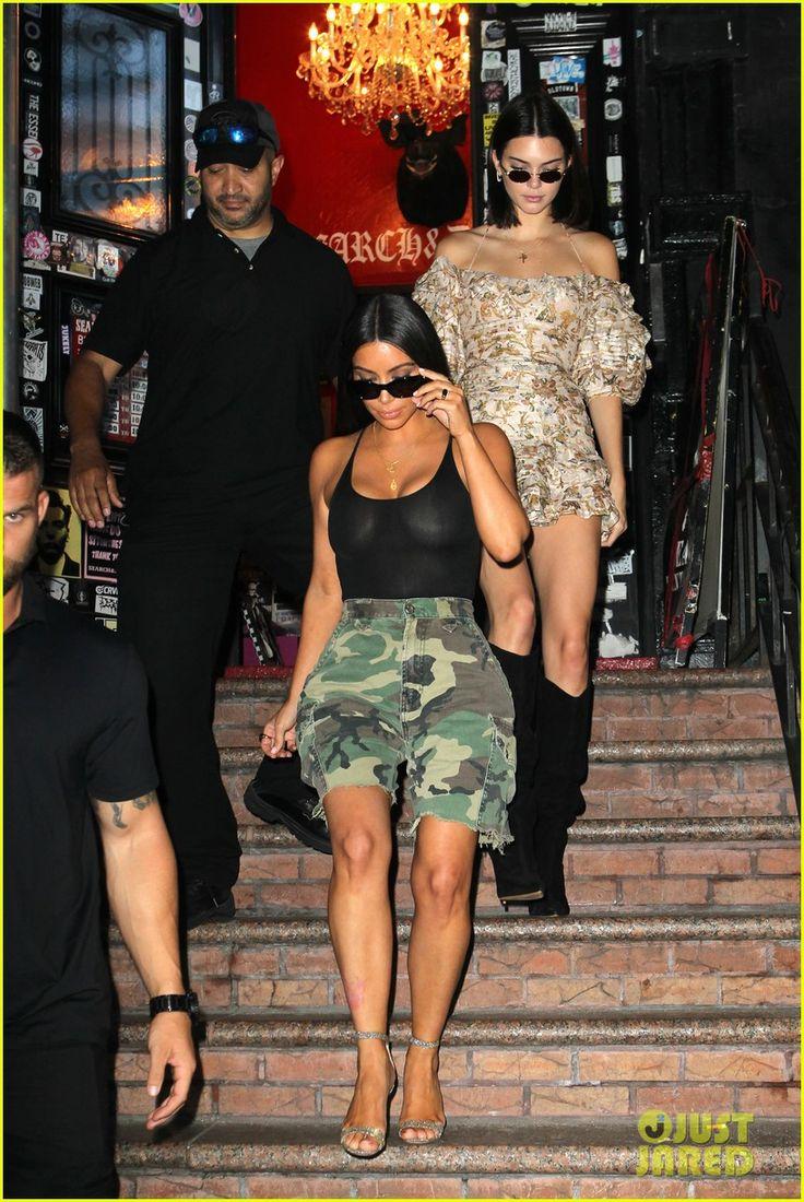 Kim Kardashian & Kendall Jenner Go Shopping at NYC Thrift Store