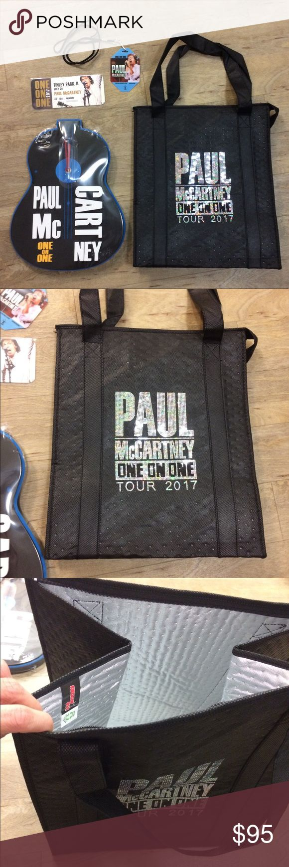 Brand new Paul McCartney VIP package tour 2017 Brand new Paul McCartney  2017 one on one tour VIP package Insulated cooler Guitar McCartney clock Limited edition ticket And backstage pass lanyard Price is negotiable as long as offer is reasonable Check out my other listings bundle and save! Other