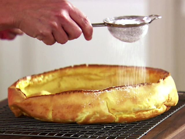Vanilla Dutch Baby (Puffed Pancake) Recipe : Melissa d'Arabian : Food Network